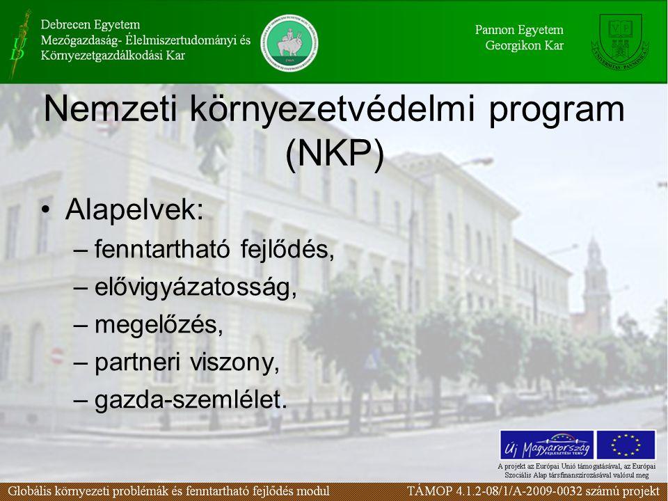 Nemzeti környezetvédelmi program (NKP)