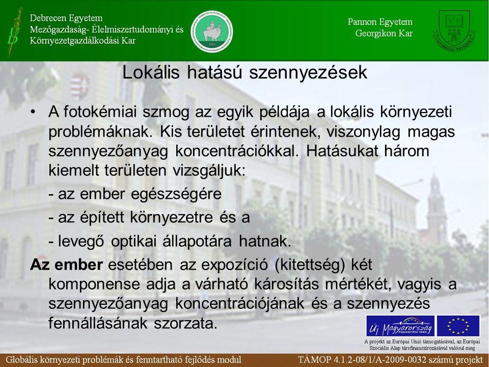 Lokális hatású szennyezések
