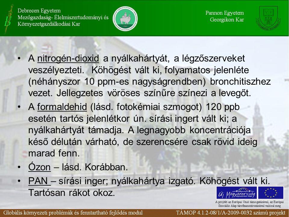 A nitrogén-dioxid a nyálkahártyát, a légzőszerveket veszélyezteti
