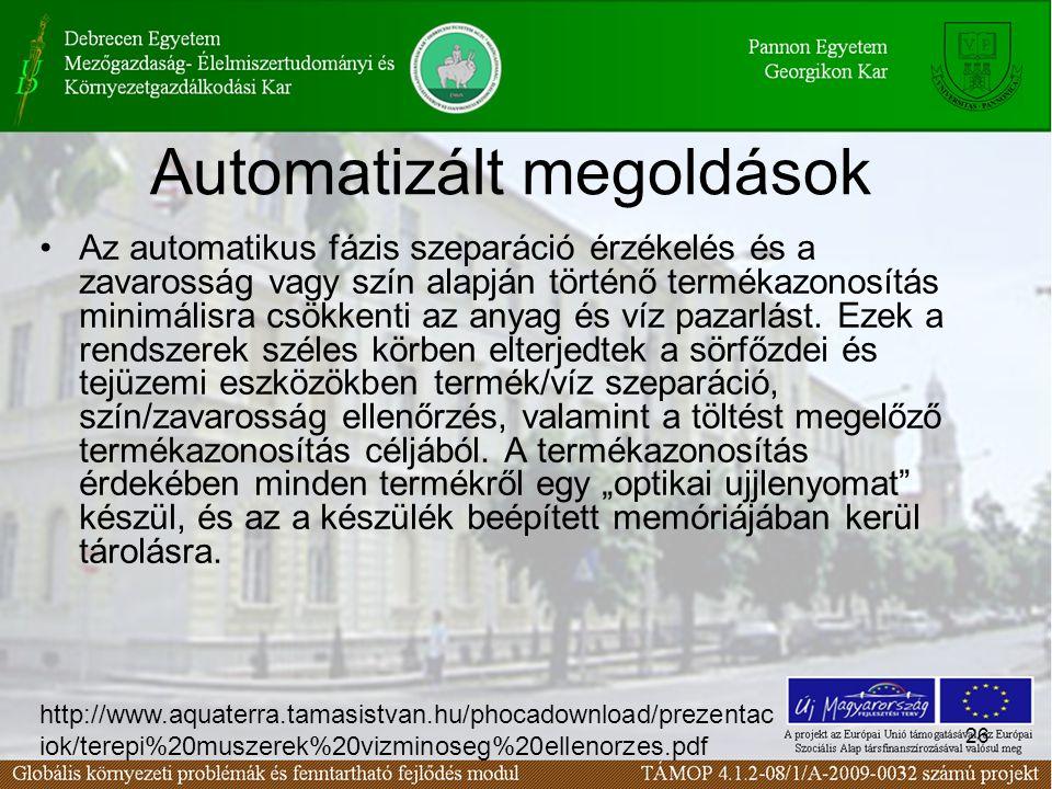 Automatizált megoldások