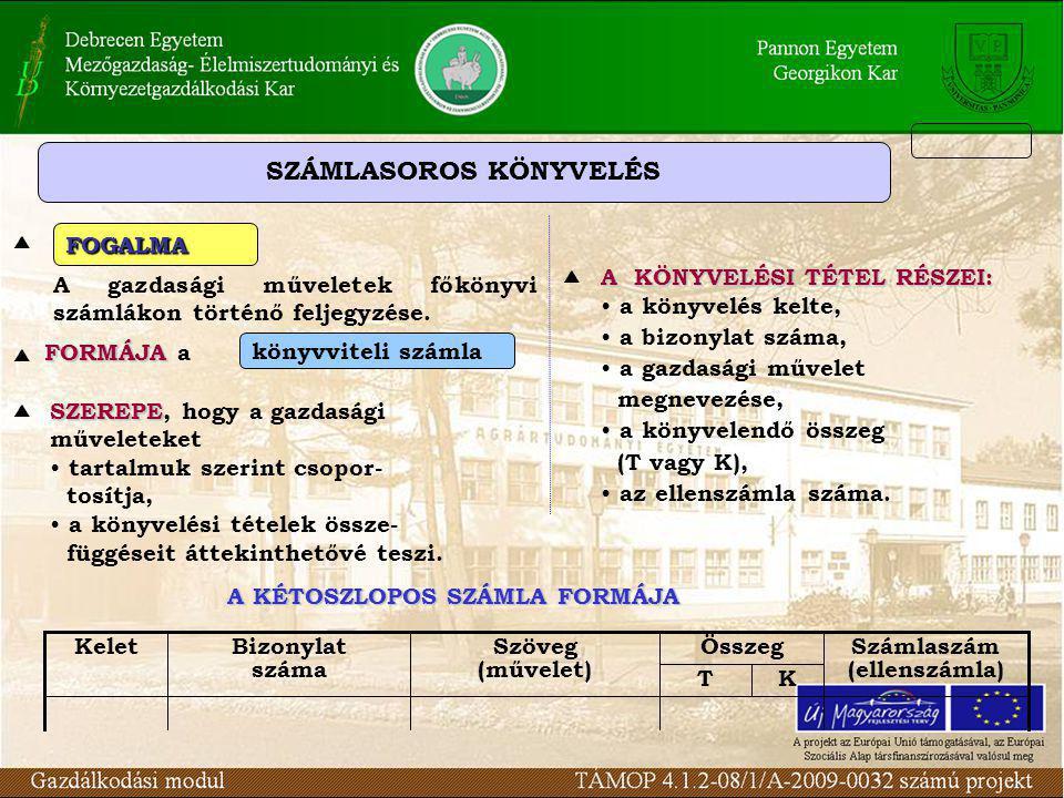 SZÁMLASOROS KÖNYVELÉS