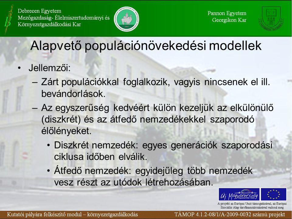 Alapvető populációnövekedési modellek