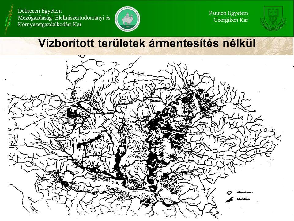 Vízborított területek ármentesítés nélkül