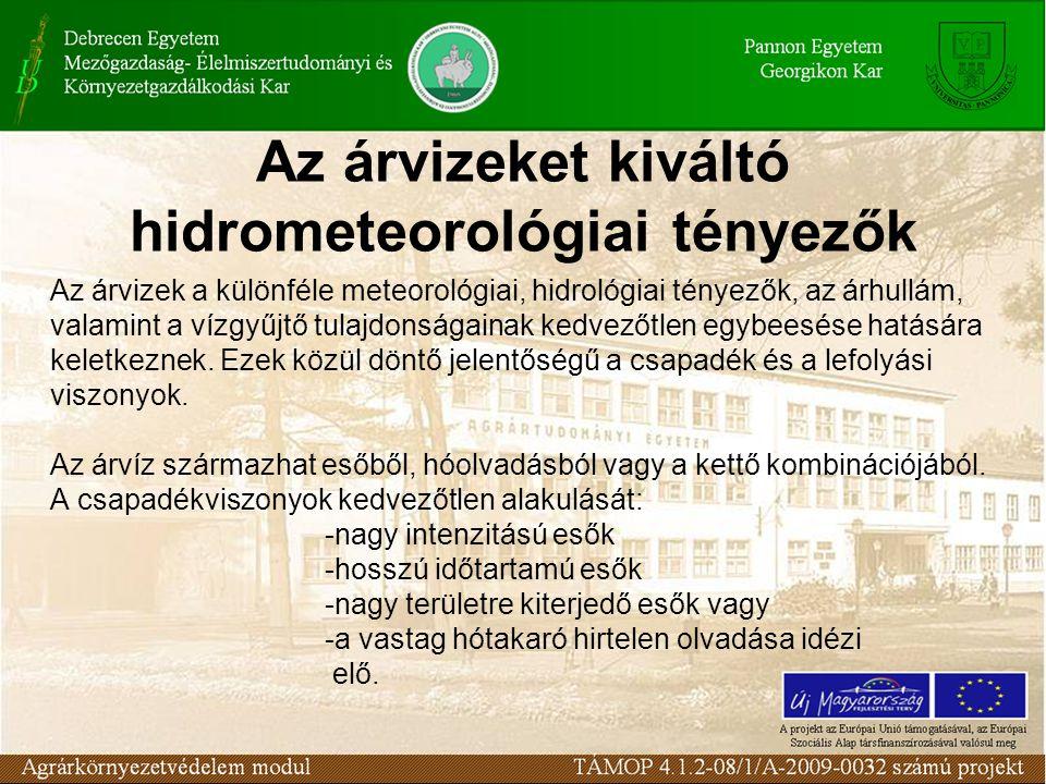 Az árvizeket kiváltó hidrometeorológiai tényezők