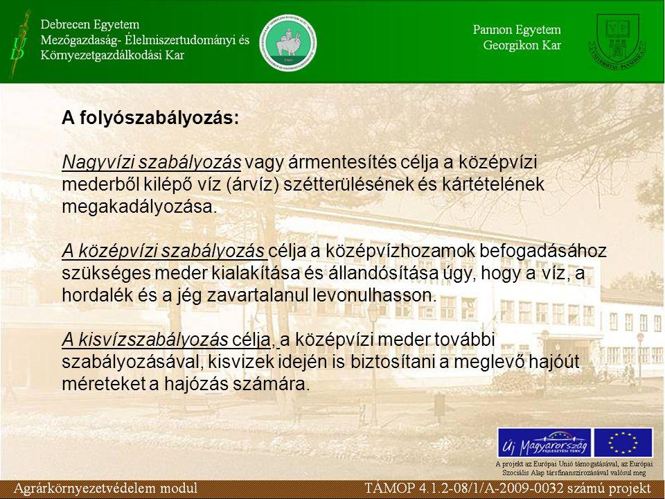 A folyószabályozás: