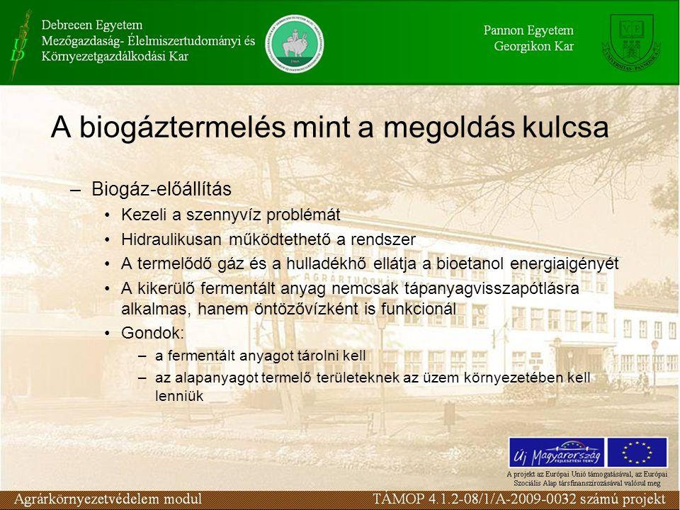 A biogáztermelés mint a megoldás kulcsa