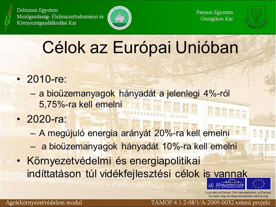 Célok az Európai Unióban