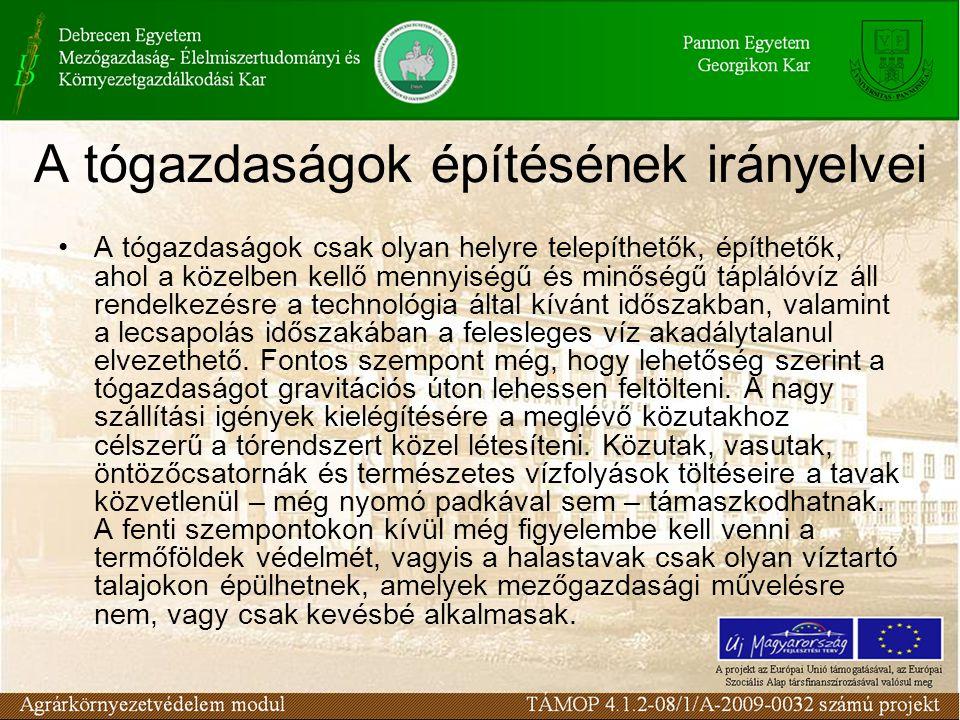 A tógazdaságok építésének irányelvei