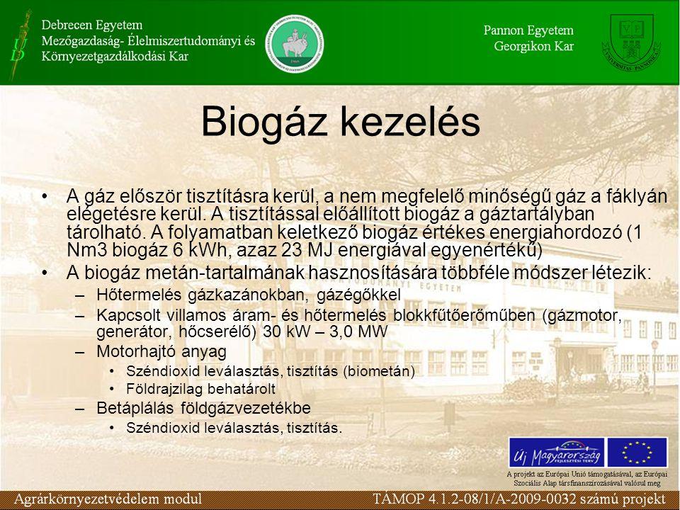 Biogáz kezelés
