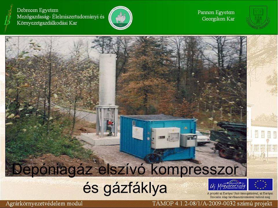Depóniagáz elszívó kompresszor és gázfáklya