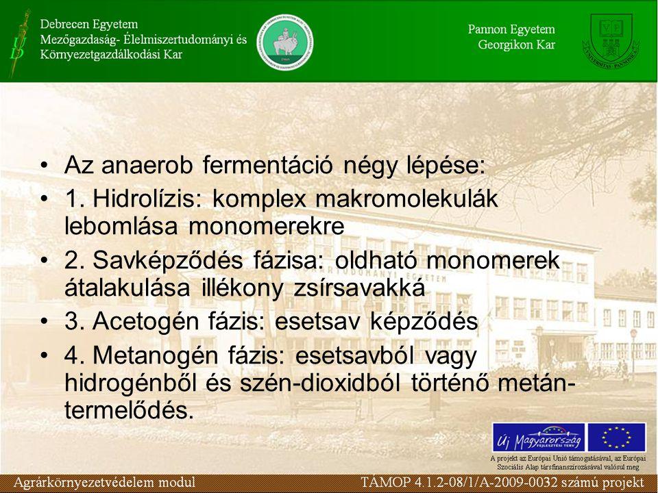 Az anaerob fermentáció négy lépése: