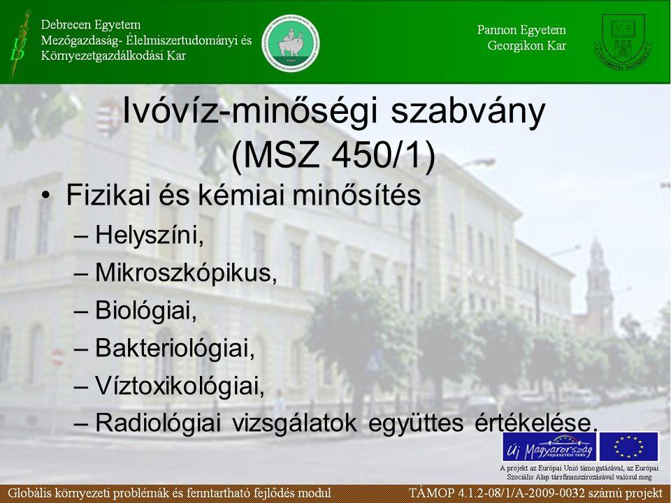 Ivóvíz-minőségi szabvány (MSZ 450/1)