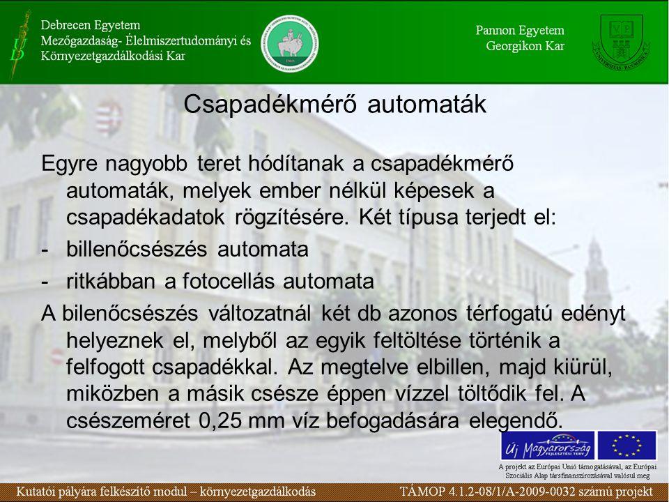 Csapadékmérő automaták