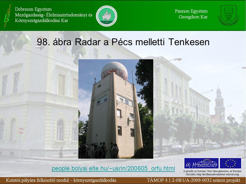 98. ábra Radar a Pécs melletti Tenkesen