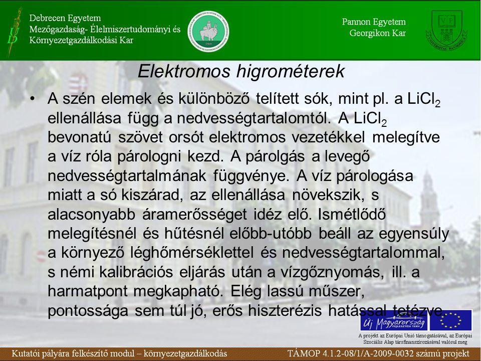 Elektromos higrométerek