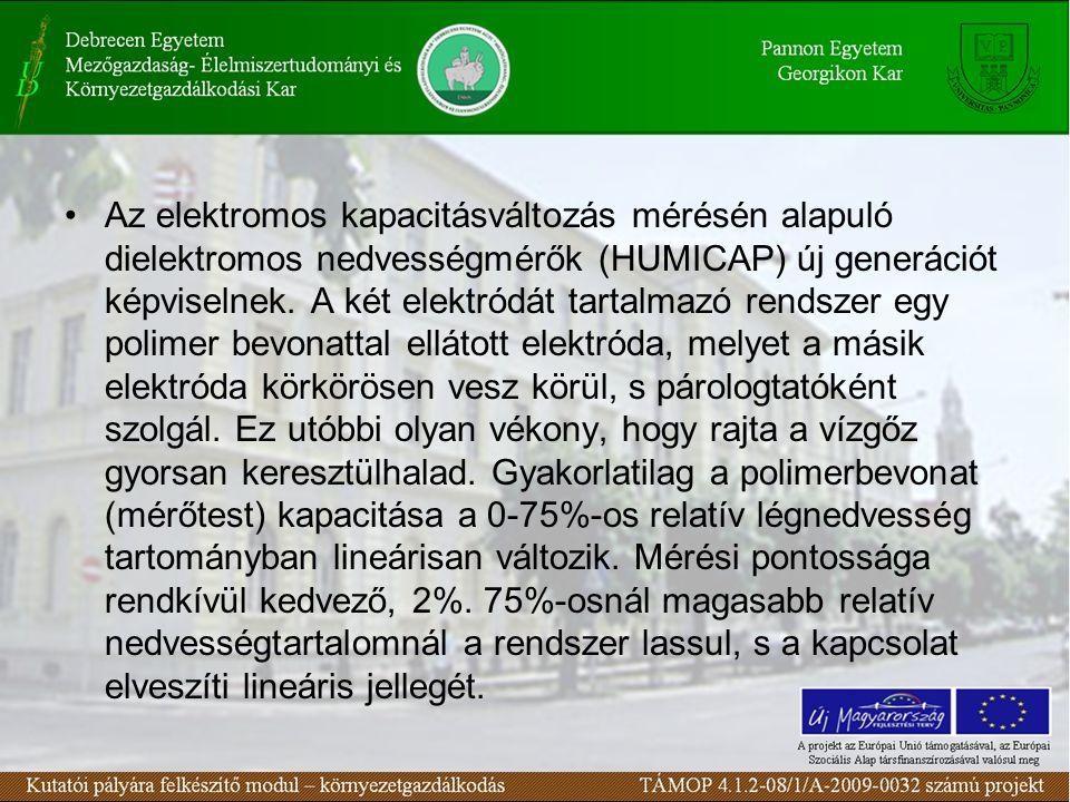 Az elektromos kapacitásváltozás mérésén alapuló dielektromos nedvességmérők (HUMICAP) új generációt képviselnek.