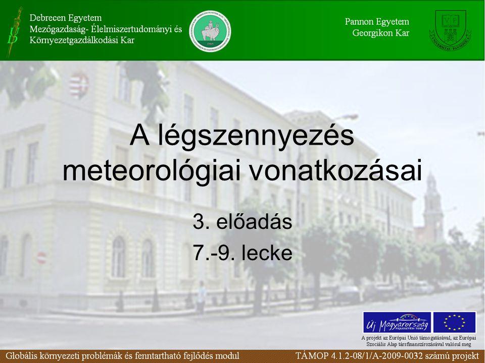 A légszennyezés meteorológiai vonatkozásai