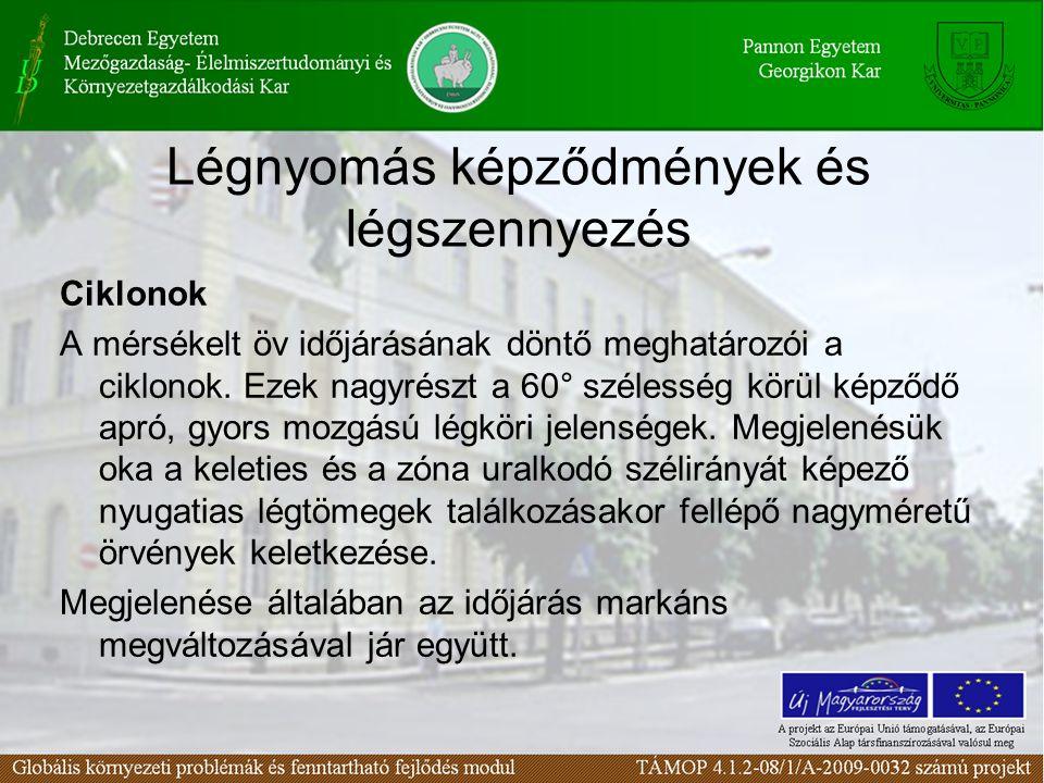 Légnyomás képződmények és légszennyezés