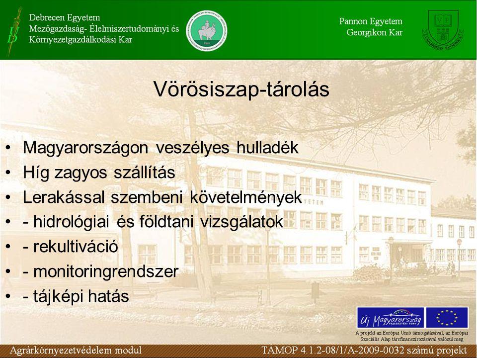 Vörösiszap-tárolás Magyarországon veszélyes hulladék