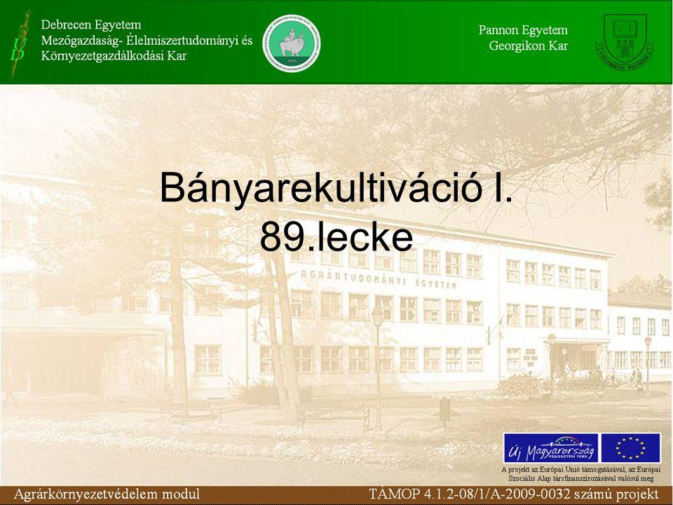 Bányarekultiváció I. 89.lecke