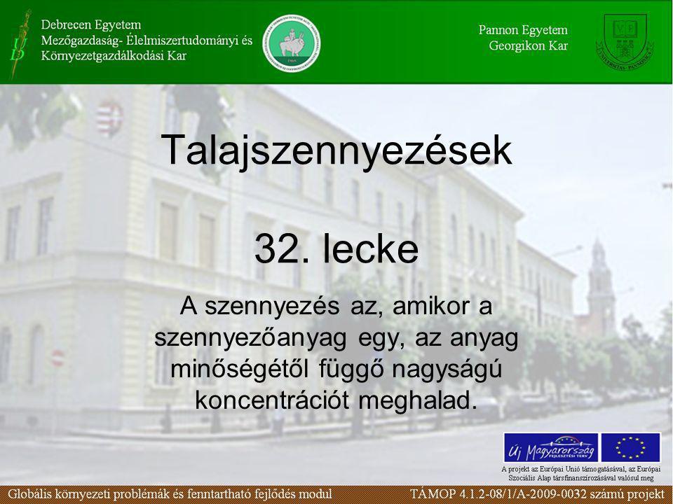 Talajszennyezések 32. lecke