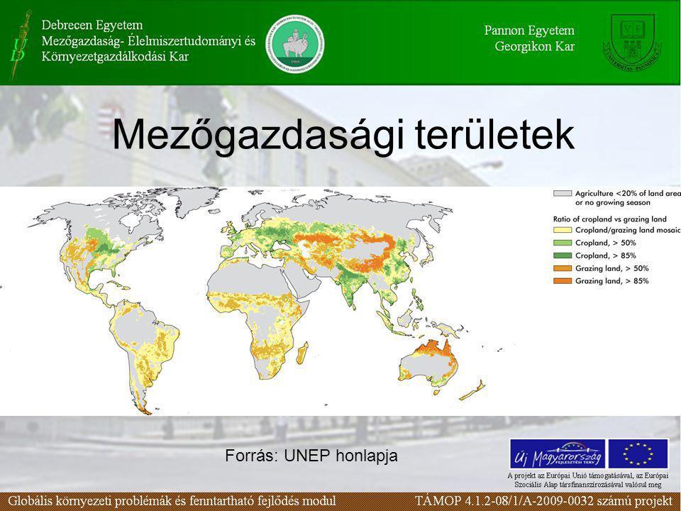 Mezőgazdasági területek