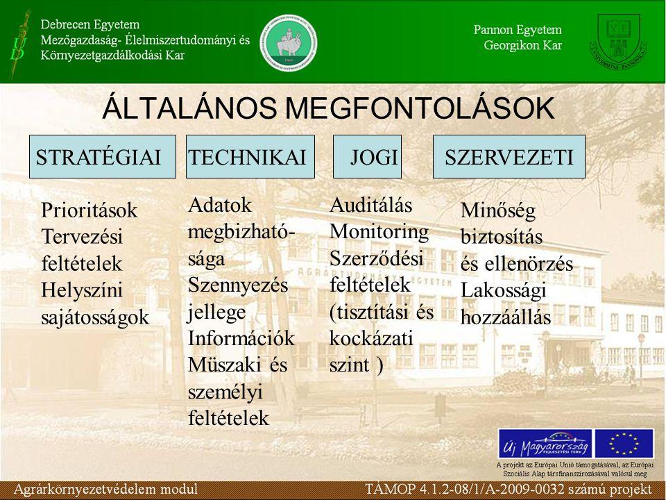 ÁLTALÁNOS MEGFONTOLÁSOK