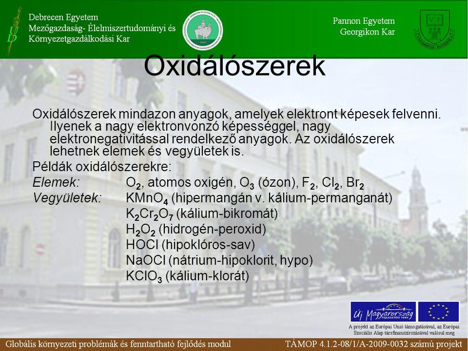Oxidálószerek