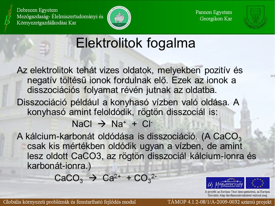 Elektrolitok fogalma