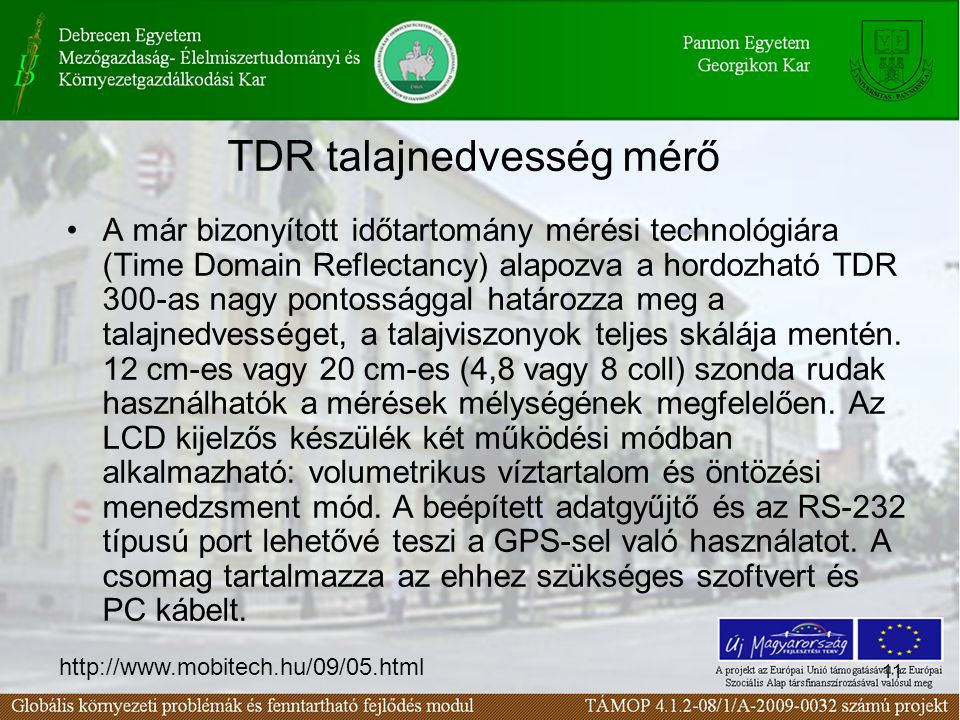 TDR talajnedvesség mérő