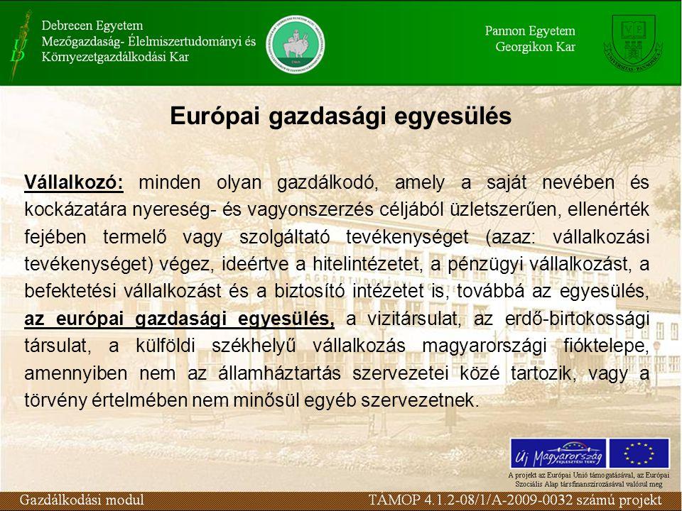 Európai gazdasági egyesülés