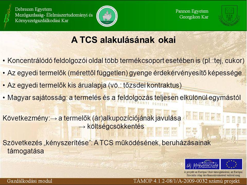 A TCS alakulásának okai