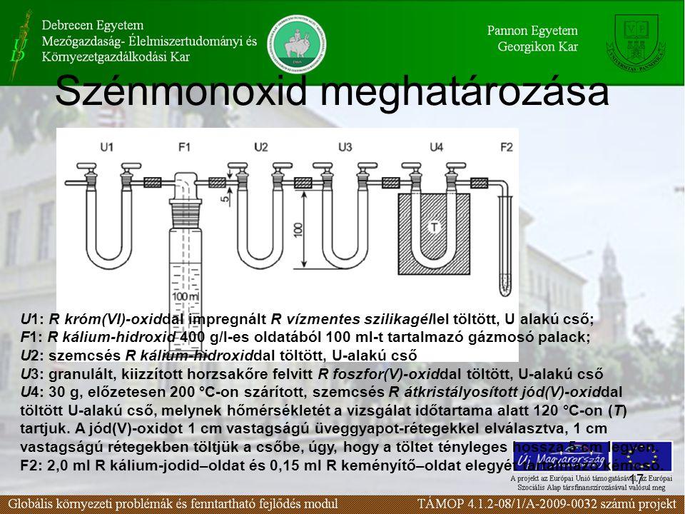 Szénmonoxid meghatározása