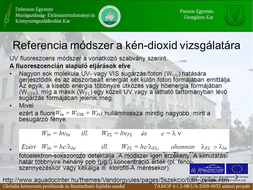 Referencia módszer a kén-dioxid vizsgálatára