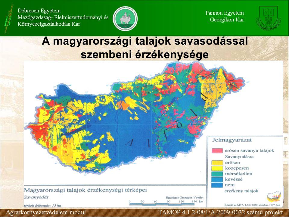 A magyarországi talajok savasodással szembeni érzékenysége