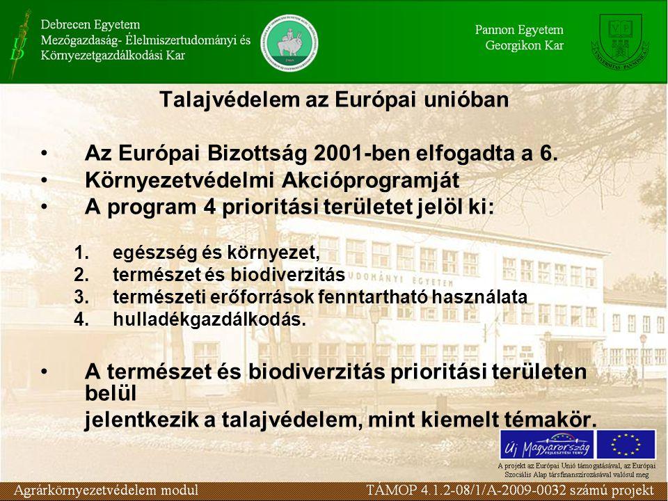 Talajvédelem az Európai unióban