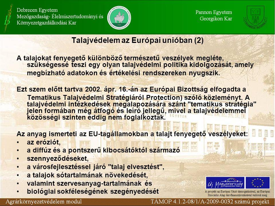 Talajvédelem az Európai unióban (2)