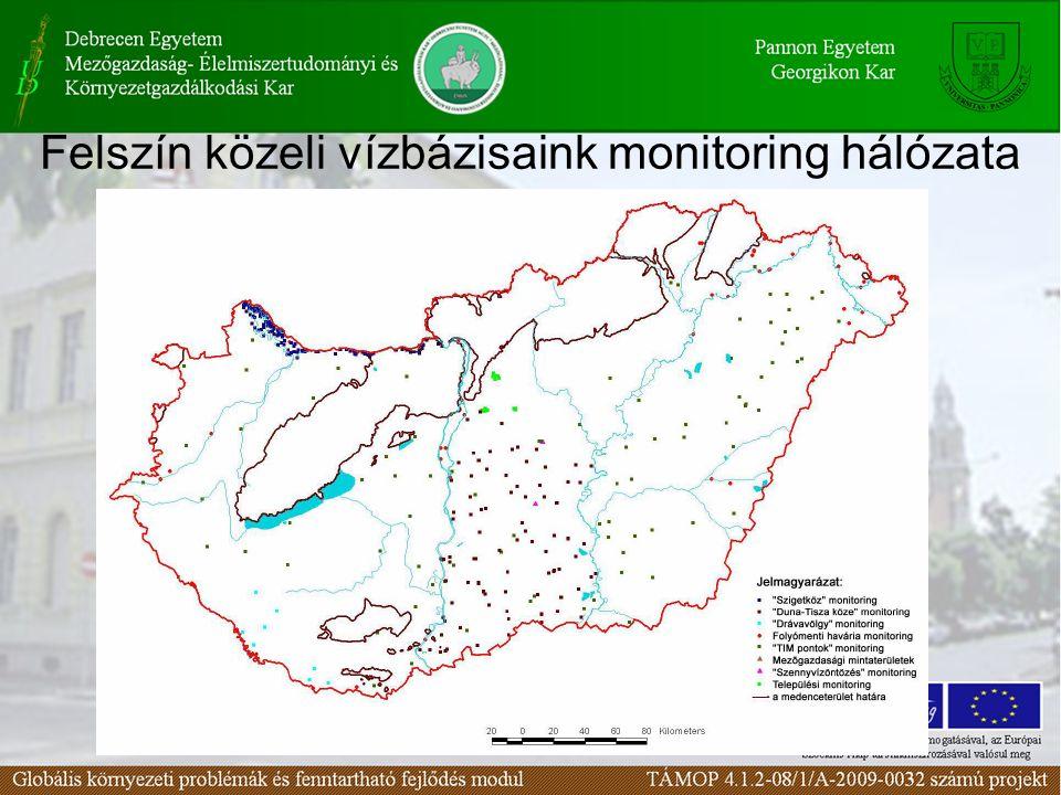 Felszín közeli vízbázisaink monitoring hálózata