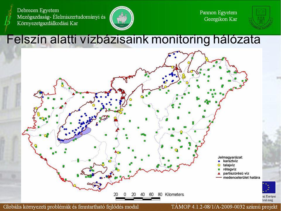 Felszín alatti vízbázisaink monitoring hálózata