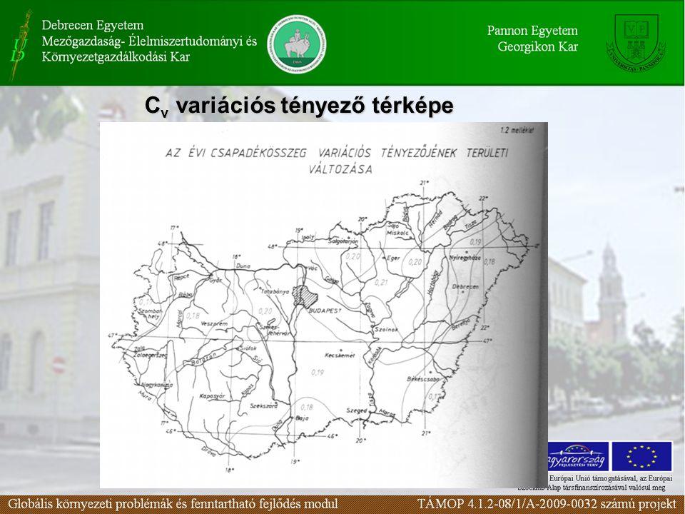 Cv variációs tényező térképe