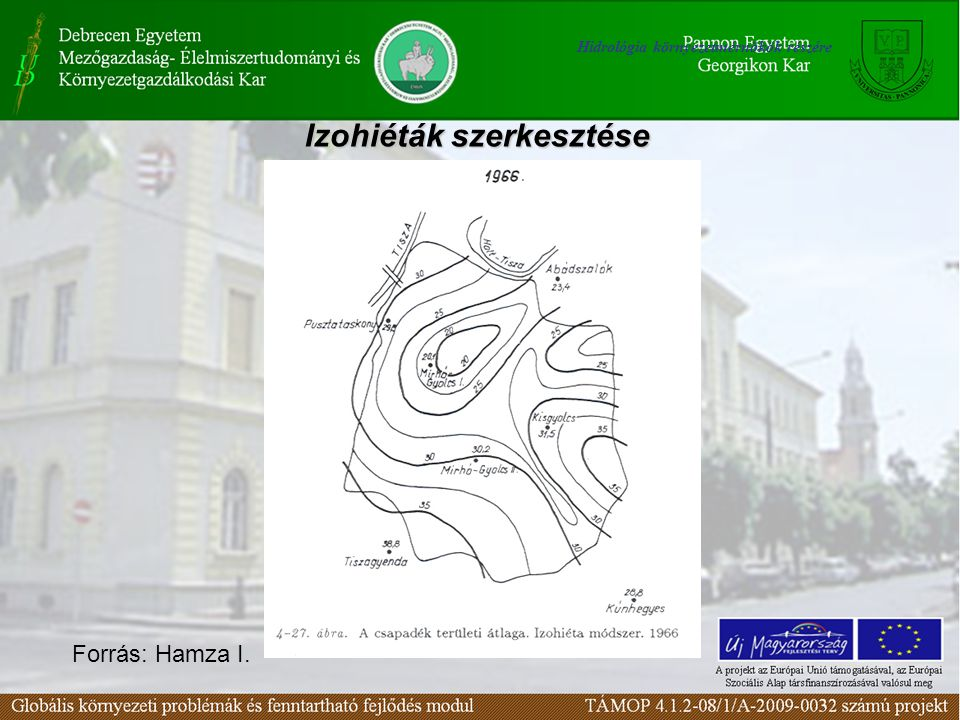 Izohiéták szerkesztése