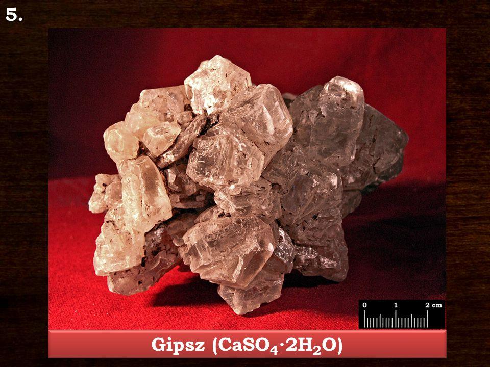 5. Gipsz (CaSO4∙2H2O)