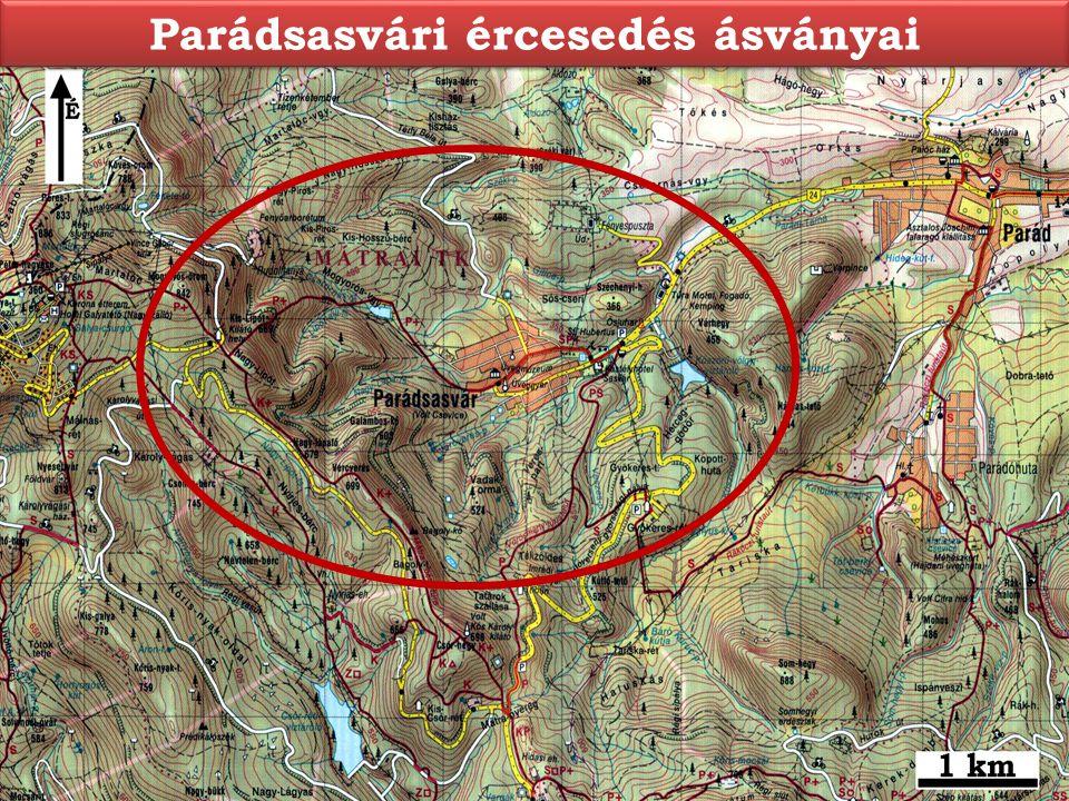 Parádsasvári ércesedés ásványai