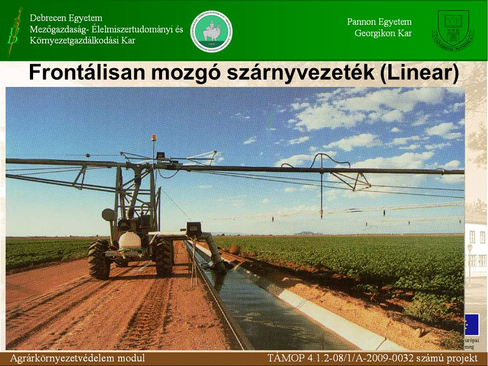 Frontálisan mozgó szárnyvezeték (Linear)