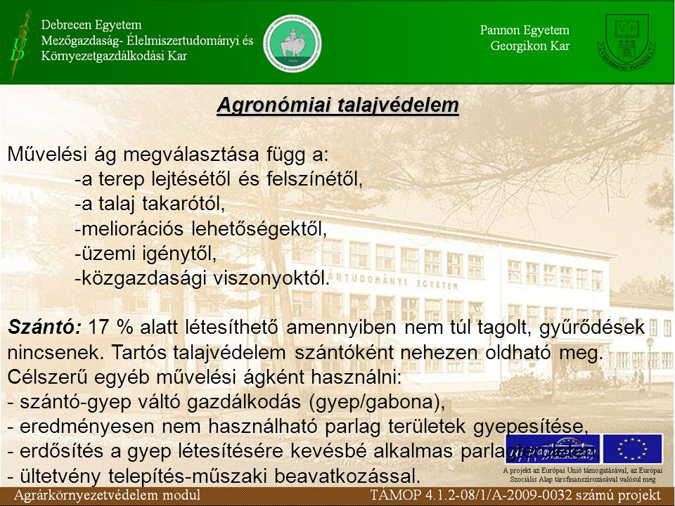 Agronómiai talajvédelem