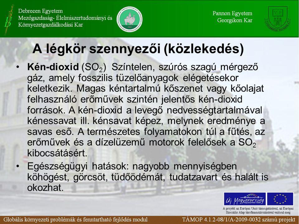 A légkör szennyezői (közlekedés)