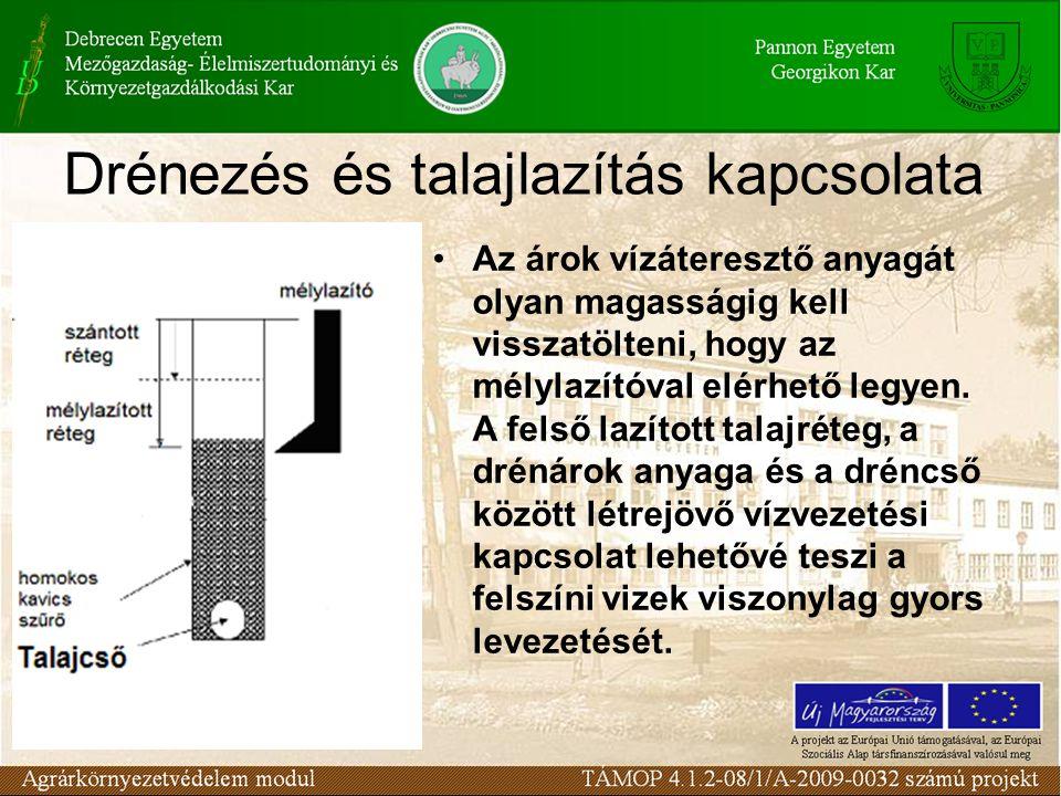 Drénezés és talajlazítás kapcsolata