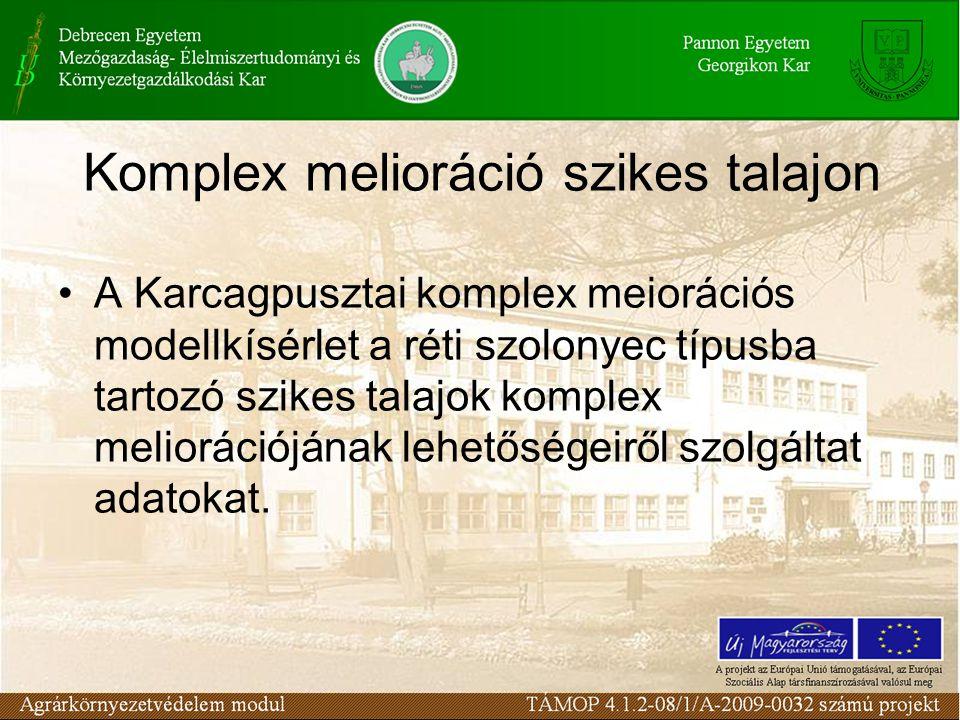 Komplex melioráció szikes talajon