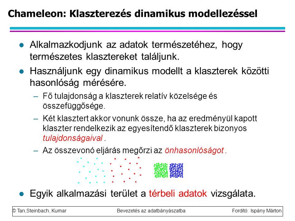 Chameleon: Klaszterezés dinamikus modellezéssel