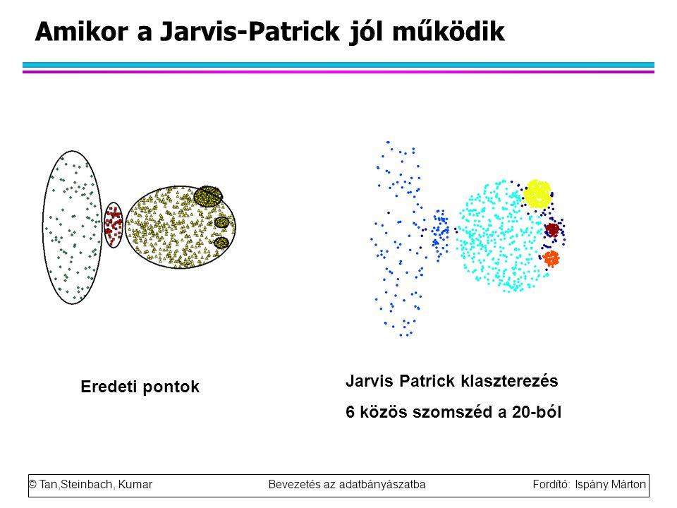 Amikor a Jarvis-Patrick jól működik